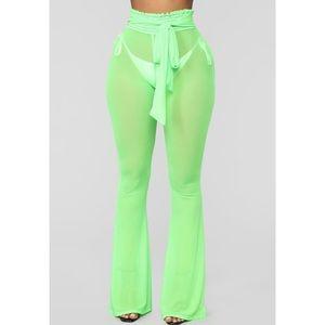 🆕 LIME GREEN MESH BEACH PANTS 🥝